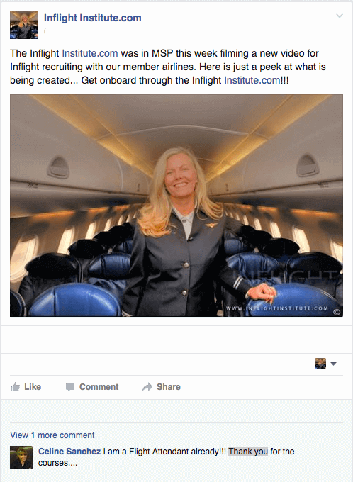 Testimonials about our Flight Attendant School | Inflight
